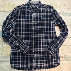 Tommy Hilfiger Long Sleeve Plaid Shirt - Large